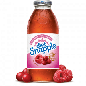 Americano Goodies diet snapple cranberry and raspberry