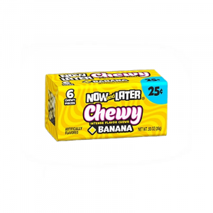 Now & Later 6 Piece CHEWY Banana Candy 0.93oz (26g)