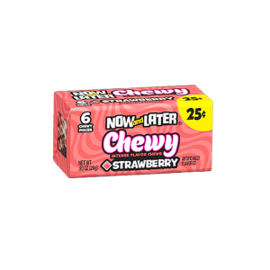 Now & Later 6 Piece CHEWY Strawberry Candy 0.93oz (26g)