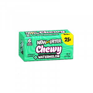 Now & Later 6 Piece CHEWY Watermelon Candy 0.93oz (26g)