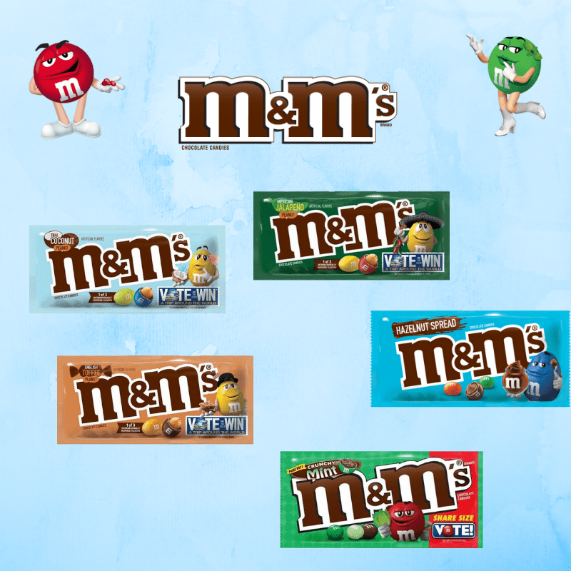 Americano Goodies m&m's range