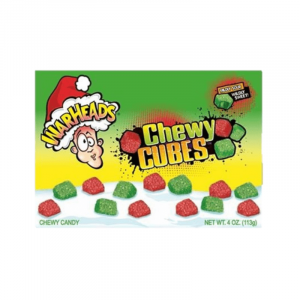 Warheads Sour Chewy Cubes Christmas Theatre Box 113g