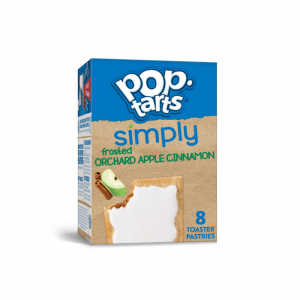Kellogg's Pop Tarts Grocery Pack Simply Frosted Orchard Apple Cinnamon 8-Pack 384g