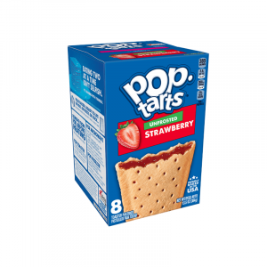 Kellogg's Pop Tarts Grocery Pack Unfrosted Strawberry 8-Pack 416g