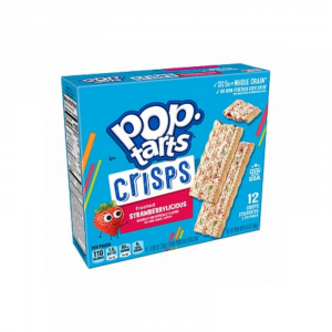 Pop Tarts Crisps Frosted Strawberrylicious 12-Crisps 168g