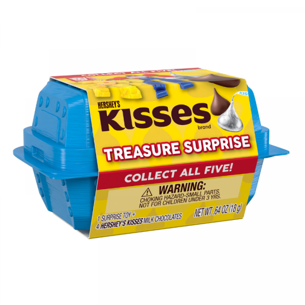 Hershey's Kisses Treasure Surprise Milk Chocolate Candy with Transformers Toys Box 18g