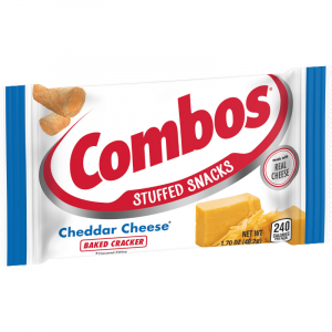 Combos Cheddar Cheese Cracker Baked Snacks 49g