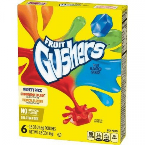 Fruit Gushers Variety Pack Fruit Flavored Snacks 6 Pouches 136g