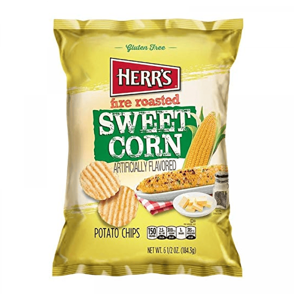 Herrs Fire Roasted Sweet Corn Chips 170g