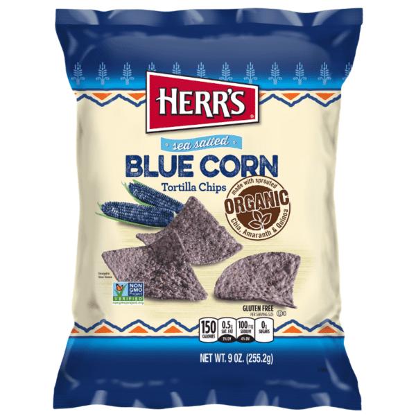 Herrs Blue Corn Tortilla Chips 255g