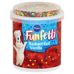 Pillsbury Frosting Funfetti Radiant Red Vanilla 442g