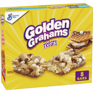 Golden Grahams S'mores Chocolate Marshmallow Treat Bars 8 Pack 240g