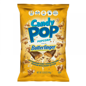 Candy Pop Popcorn made with Butterfinger