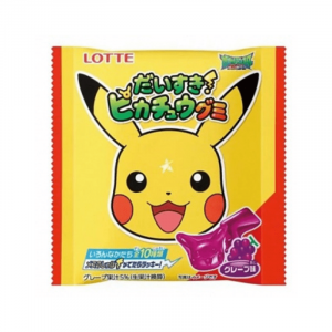 Lotte I Love Pikachu Grape Gummy 28g