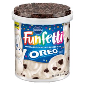 Pillsbury Funfetti Frosting Vanilla With Oreo Cookies 442g