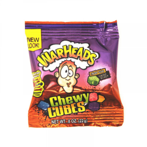 Warheads Chewy Cubes Trial Size 22g