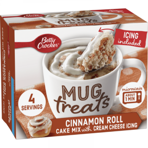 Betty Crocker Mug Treats, Cinnamon Roll Cake 394g (4 Servings)