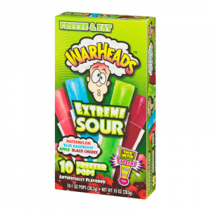 Warheads Extreme Sour Freezer Pops 10-Count 280g