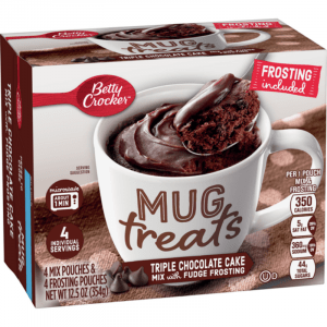 Betty Crocker Mug Treats, Triple Chocolate Cake 354g (4 Servings)