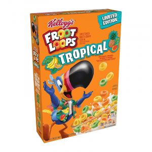 Froot Loops Limited Edition Tropical Cereal Box 286g