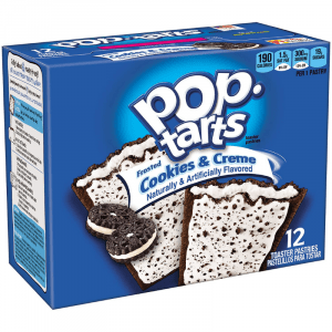 Americano Goodies Kellogg's Pop Tarts Frosted Cookies & Creme 12-Pack (6 x 2 Toaster Pastries) 624g