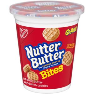 Nutter Butter Go-Pak! Bites Peanut Butter Sandwich Cookies 99g